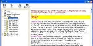 1923/1998 Y�lllar� ALMANAK T�rkiye Ekran G�r�nt�s�
