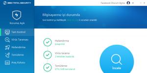 360 TS Ücretsiz Antivirus  Ekran Görüntüsü