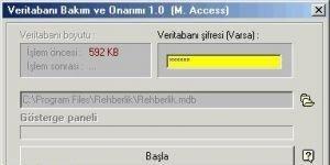 Access DB Onar�m Ekran G�r�nt�s�