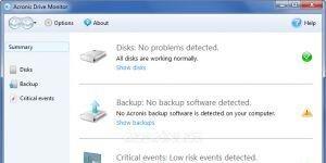 Acronis Drive Monitor Ekran G�r�nt�s�