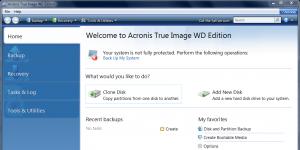 Acronis True Image WD Edition Software Ekran Görüntüsü