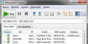 Advanced IP Scanner Ekran G�r�nt�s�