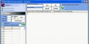 AGSoft Sak�ncal�lar Listesi H�zl� Arama Program� Ekran G�r�nt�s�