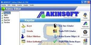 AKINSOFT Adres Etiket Ekran G�r�nt�s�