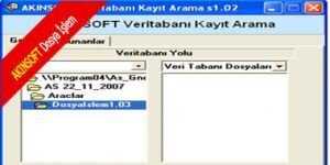 AKINSOFT Dosya �slem Ekran G�r�nt�s�