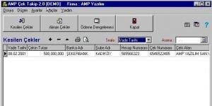 AMP Çek Takip Ekran Görüntüsü