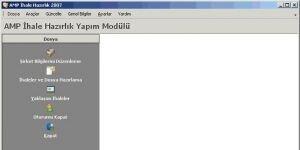 AMP İhale Hazırlık Yapım ve Hizmet İşleri Ekran Görüntüsü