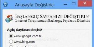 Anasayfa Değiştirme Programı | Home Page Remove Ekran Görüntüsü