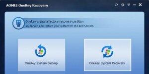 AOMEI OneKey Recovery Ekran Görüntüsü