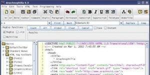 Arachnophilia Web Page Editor Ekran Görüntüsü