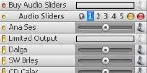 Audio Sliders Ekran G�r�nt�s�