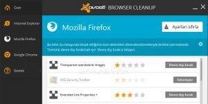 avast! Browser Cleanup Ekran G�r�nt�s�