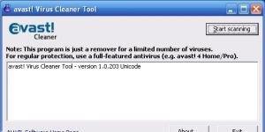 Avast Virus Cleaner Ekran G�r�nt�s�