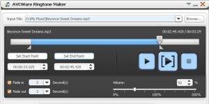 AVCWare Free Ringtone Maker Ekran Görüntüsü