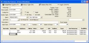 Aymet Ticari Muhasebe Ekran Görüntüsü