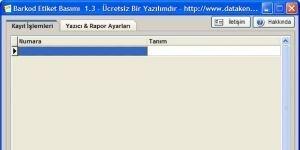 Barkod Etiket Bas�m� Ekran G�r�nt�s�