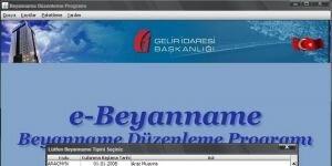 Beyanname D�zenleme Program� Ekran G�r�nt�s�