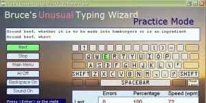 Bruce's Unusual Typing Wizard Ekran G�r�nt�s�