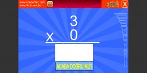Çarpım Tablosu Oyunu Ekran Görüntüsü