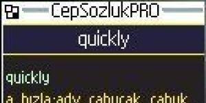 Cep Sozluk PRO Ekran Görüntüsü