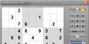 CerezForum Sudoku Ekran Görüntüsü