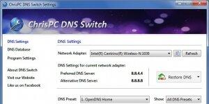 ChrisPC DNS Switch Ekran G�r�nt�s�