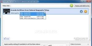 ChrisPC Free VideoTube Downloader Ekran G�r�nt�s�