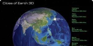 Cities of Earth Free 3D Screensaver Ekran Görüntüsü
