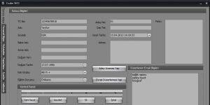 Coder Sürücü Kursu Otomasyonu Ekran Görüntüsü