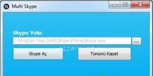 Çoklu Skype Açma Ekran Görüntüsü