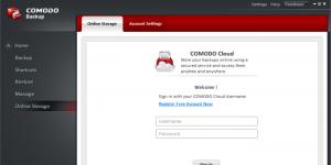 Comodo Cloud Ekran Görüntüsü