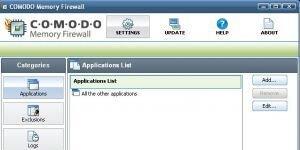 Comodo Memory Firewall Ekran G�r�nt�s�