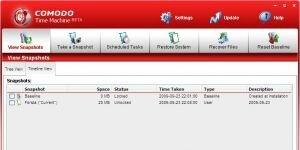 Comodo Time Machine Ekran Görüntüsü
