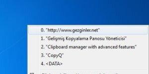 CopyQ Ekran Görüntüsü