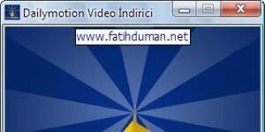 Dailymotion Video �ndirici Ekran G�r�nt�s�
