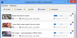 Free Dailymotion Video Downloader Ekran G�r�nt�s�