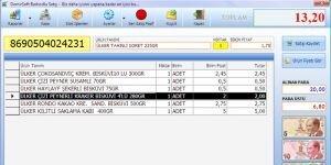 DemirSoft Market ve Mağaza Barkodlu Satış Programı Ekran Görüntüsü