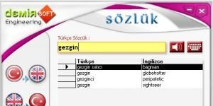 DemirSoft Türkçe - İngilizce Sözlük Ekran Görüntüsü