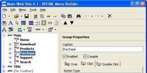 DHTML Menu Builder Ekran Görüntüsü