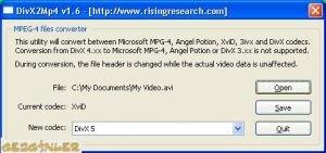 DivX2Mp4 Ekran Görüntüsü