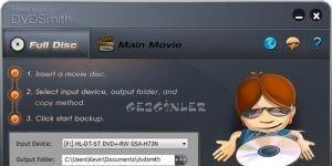 DVDSmith Movie Backup Ekran Görüntüsü
