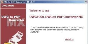 DWG to PDF Converter MX Ekran G�r�nt�s�