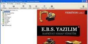 E.B.S. Hafriyat Hesap Y�netim Ekran G�r�nt�s�