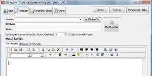 EBS Toplu Mail G�nderim Program� Ekran G�r�nt�s�
