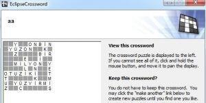 EclipseCrossword Ekran G�r�nt�s�