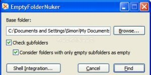Empty Folder Nuker Ekran Görüntüsü