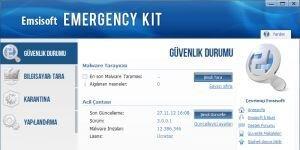 Emsisoft Emergency Kit Ekran Görüntüsü