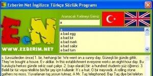 Ezberim Net ingilizce Türkçe Sözlük Ekran Görüntüsü
