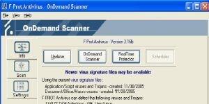 F-PROT Antivirus Ekran Görüntüsü
