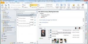 Facebook i�in Outlook Sosyal ��erik Ba�lay�c� Ekran G�r�nt�s�